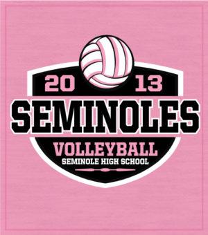 8700 Girls Volleyball T-Shirt Shield