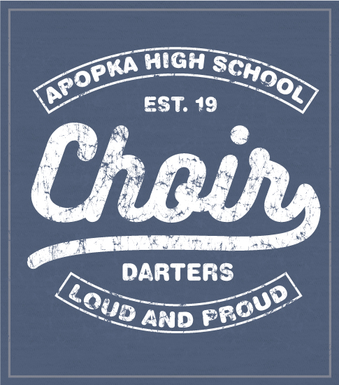 High School Choir T-shirt Denim