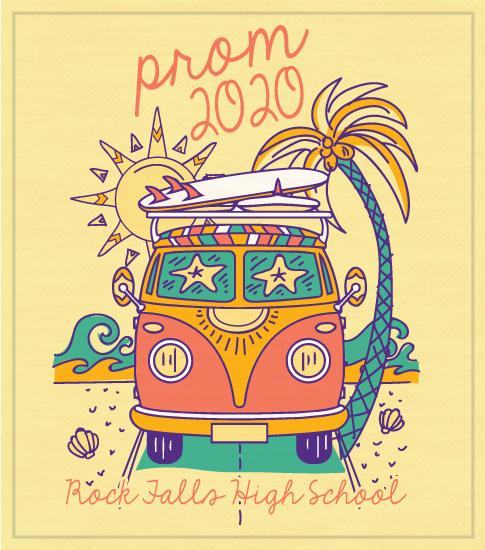 Prom T-shirt Beach and Van
