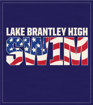 Swim Team T-shirt with Flag