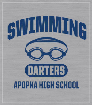 Swim Team T-shirt with Goggles