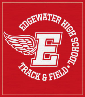 Track and Field T-shirt Winged Letter