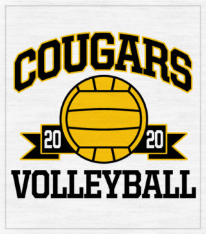 Banner Style Volleyball T-shirt
