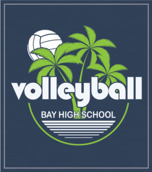 Volleyball T-shirt Palm Trees