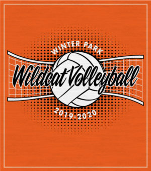 Volleyball T-shirt with Net and Ball