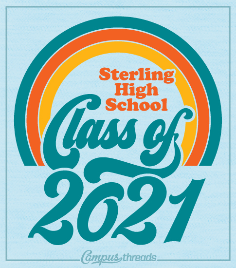 Class of 2021 Shirts Retro Rainbow