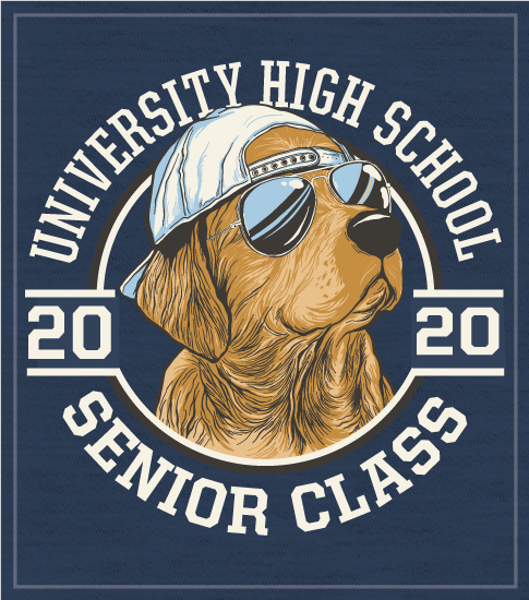Class of 2020 Shirt with Golden Lab