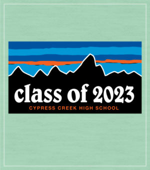 Class of 2023 T-shirt with Mountains