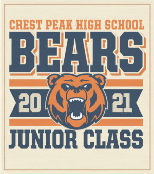 Junior Class of 2021 Shirt Bears Mascot