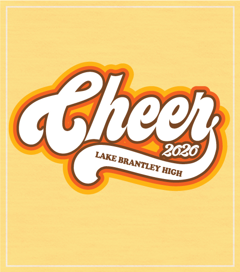 Retro Cheer T-shirt Seventies Style