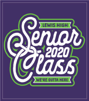 Senior Class T-shirt Purple and Lime