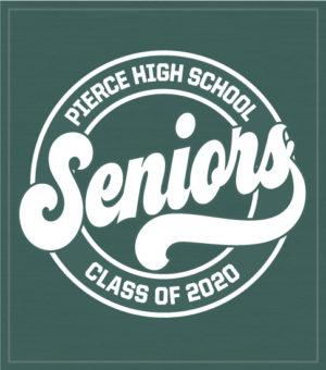 Senior Class Shirt Circle Script
