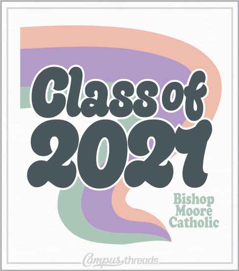 Class of 2021 Retro Senior T-shirt