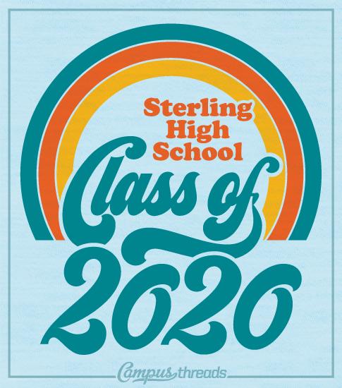 Class of 2020 Shirts Retro Rainbow