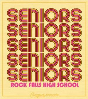 Senior Class Shirt Colorful Throwback