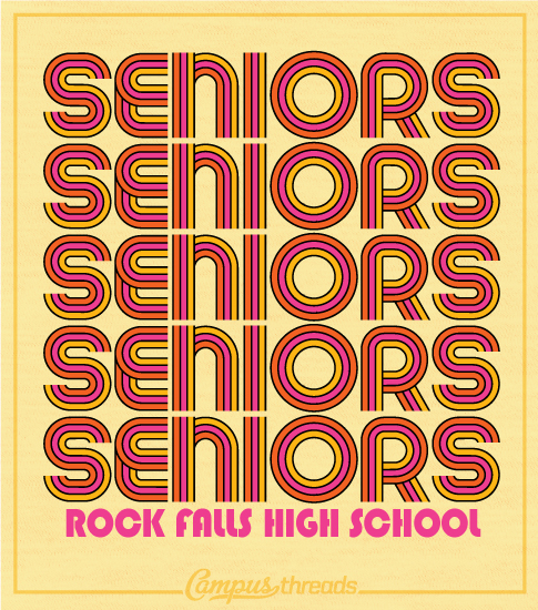 Senior Class Shirt Colorful Throwback