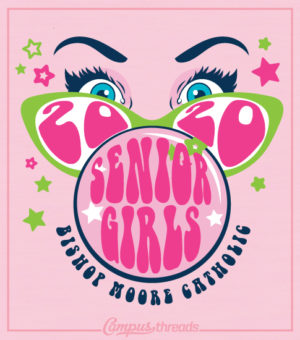 Senior Girls T-shirt Bubble Gum