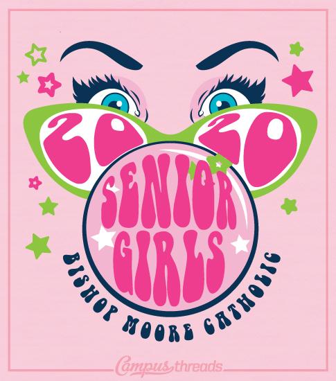 Senior Girls T-shirt Bubble Gum