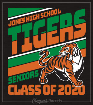 Class of 2020 Shirt with Mascot