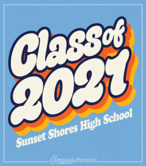 Class of 2021 T-shirt Retro
