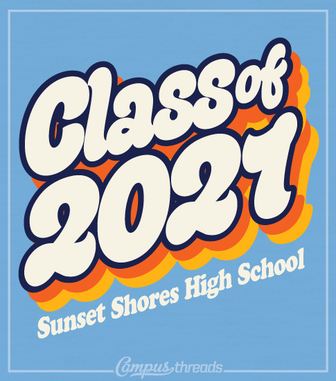 Class of 2021 T-shirt Retro