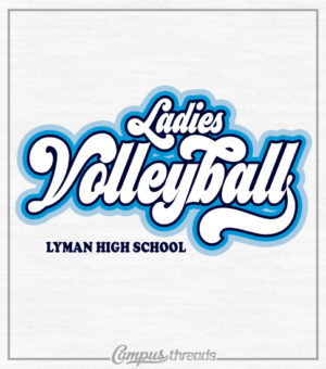 Ladies Volleyball Retro Team T-shirt