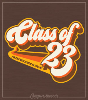 Retro Seventies Class of 2023 Shirt