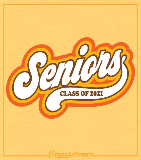 Senior Class T-shirt Retro Style