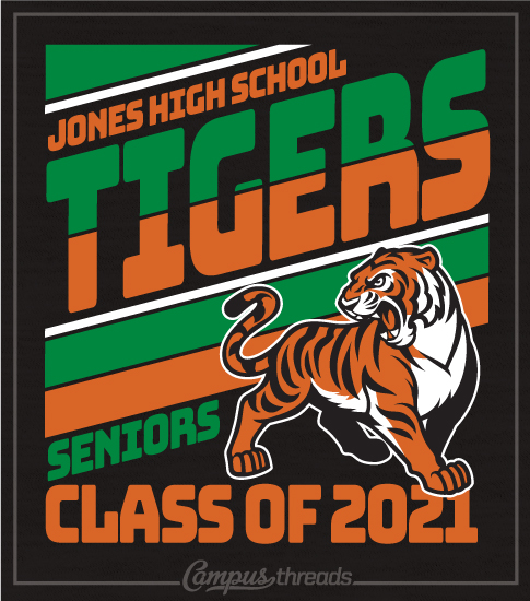 Class of 2021 Shirt with Mascot