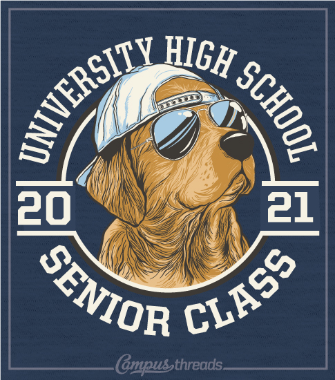 Class of 2021 Shirt with Golden Lab