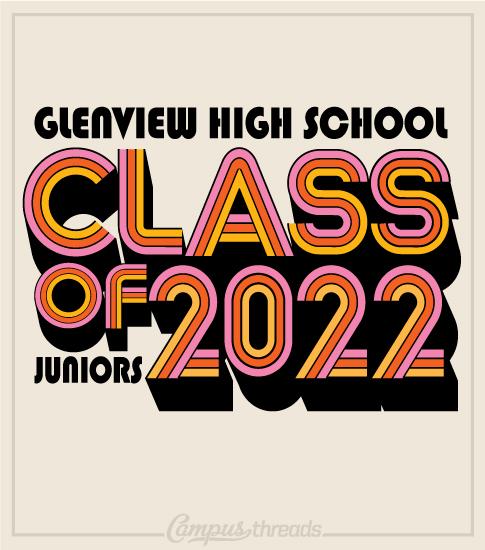 Class of 2021 Shirt Throwback Font