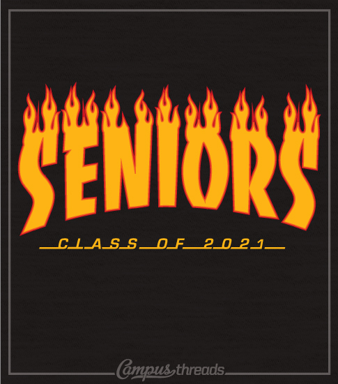 Class of 2021 Senior Skateboard T-shirt