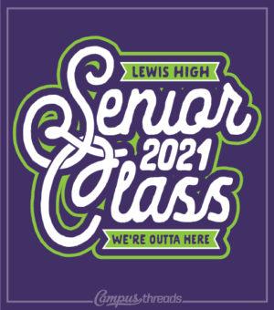 Senior Class T-shirts Purple and Green