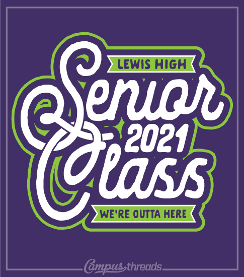 Senior Class T-shirts Purple and Green