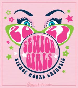 Senior Girls T-shirts Bubble Gum