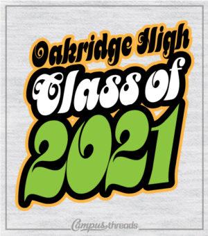 Retro Seventies Class of 2021 T-shirts