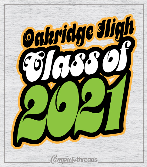 Retro Seventies Class of 2021 T-shirts