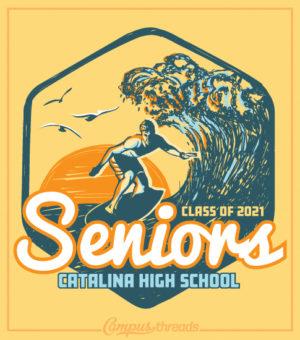Senior Class Shirt Surfer Class of 2021