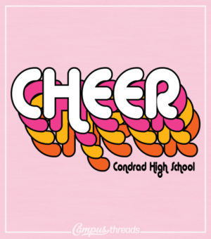 Cheer T-shirt Retro Font