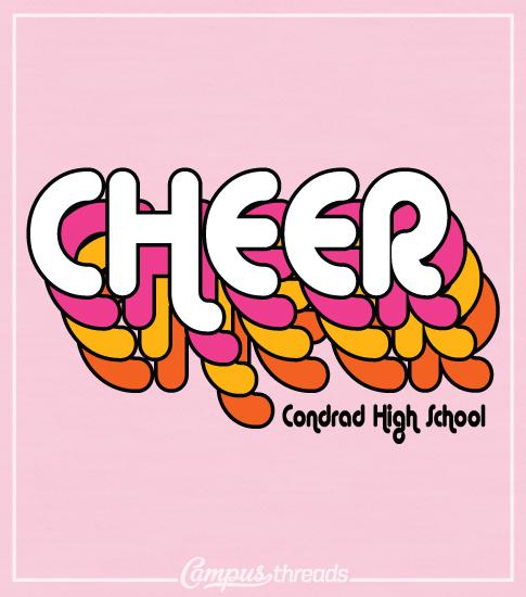 Cheer T-shirt Retro Font