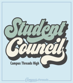 Student Council Shirt Retro Script