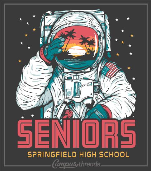 Senior Class Shirt Astronaut