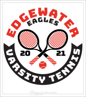 Varsity Tennis Shirt Crossed Racquets