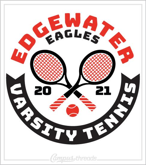Varsity Tennis Shirt Crossed Racquets