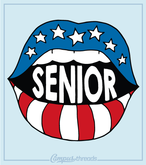 Senior Class Shirts - Retro Lips