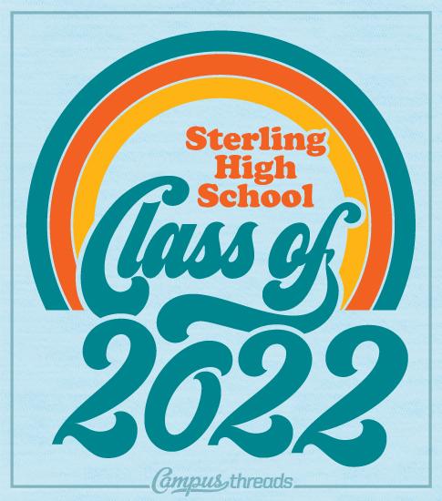 Class of 2022 Shirts Retro Rainbow