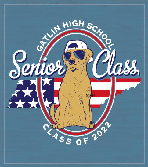 Senior Class Shirt Patriotic Dog