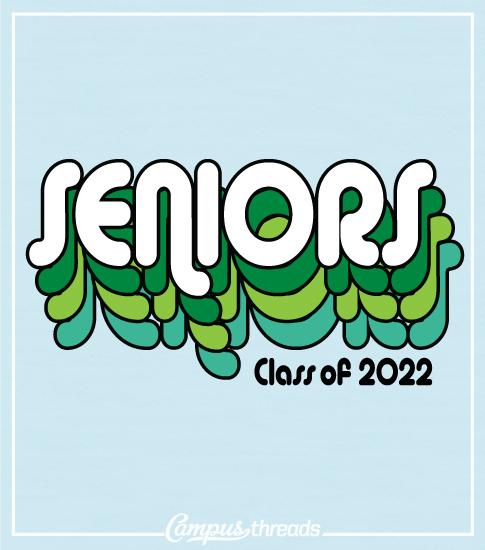 Senior Class Shirt Retro Font