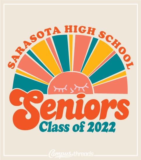 Senior Class Shirt Retro Sun